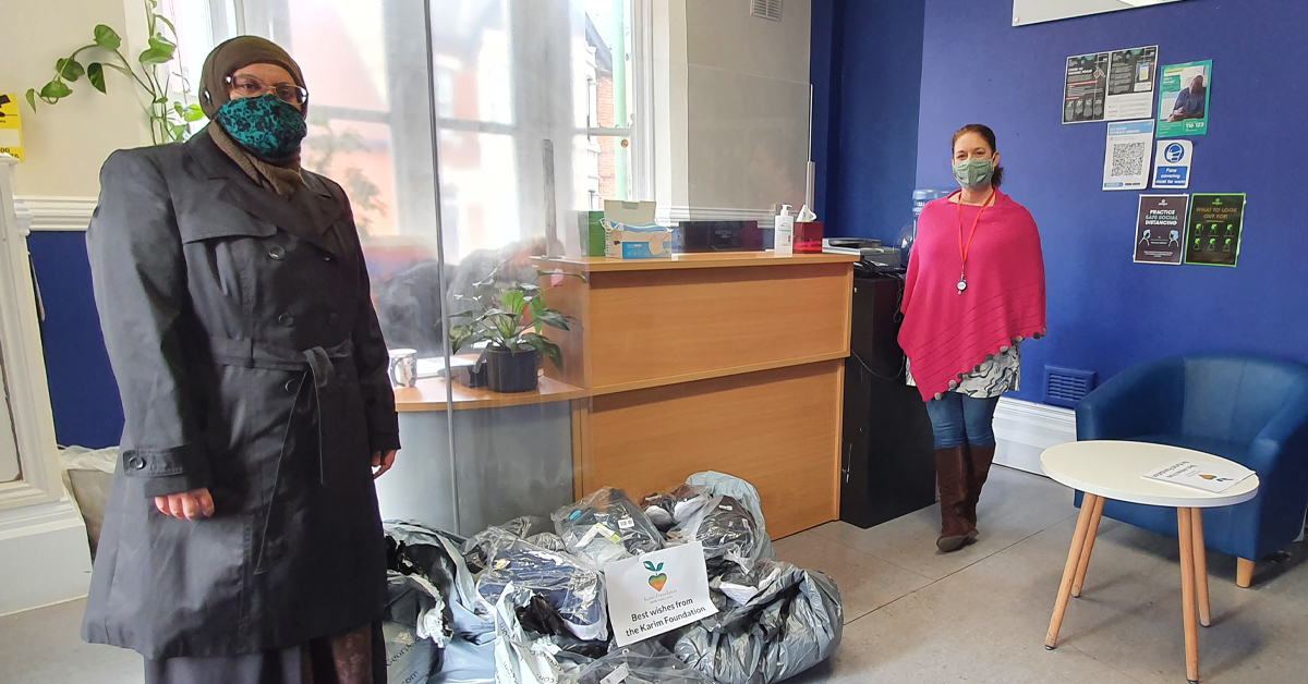 Shahida Rahman and Melody Brooker at Wintercomfort